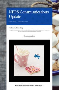NPPS Communications Update