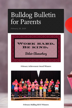 Bulldog Bulletin for Parents