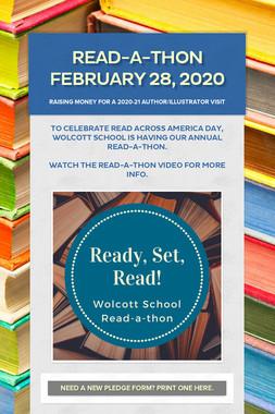Read-a-thon February 28, 2020