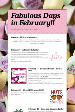 Fabulous Days in February!!