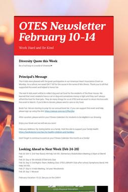 OTES Newsletter February 10-14