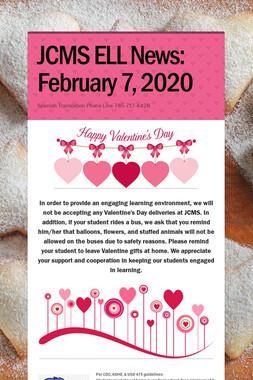 JCMS ELL News: February 7, 2020