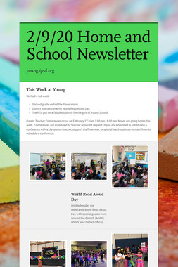 2/9/20 Home and School Newsletter