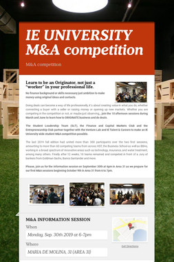 IE UNIVERSITY M&A competition