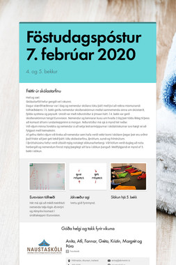 Föstudagspóstur 7. febrúar 2020