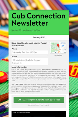 Cub Connection Newsletter