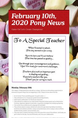 February 10th, 2020 Pony News