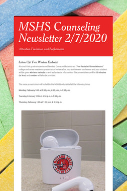 MSHS Counseling Newsletter 2/7/2020