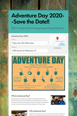 Adventure Day 2020--Save the Date!!