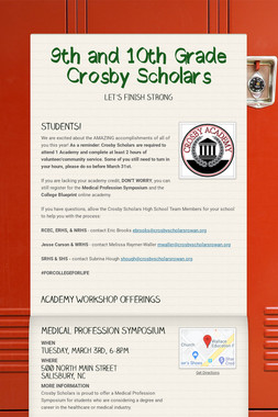 9th and 10th Grade Crosby Scholars