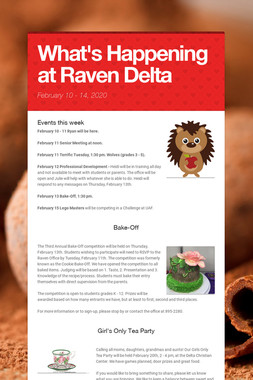 What's Happening at Raven Delta