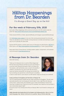 Hilltop Happenings from Dr. Bearden