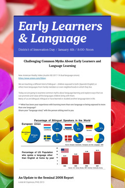 Early Learners & Language