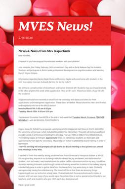 MVES News!