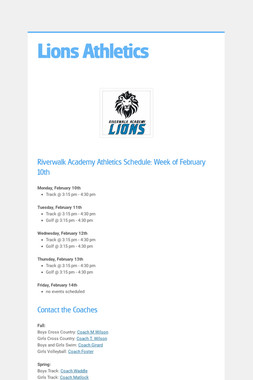 Lions Athletics