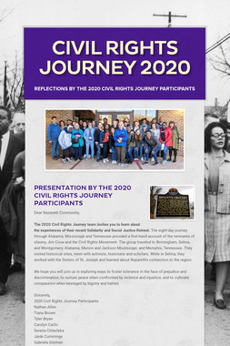 Civil Rights Journey 2020