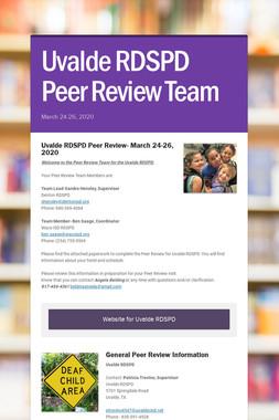 Uvalde RDSPD Peer Review Team