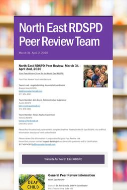 North East RDSPD Peer Review Team