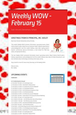 Weekly WOW - February 15