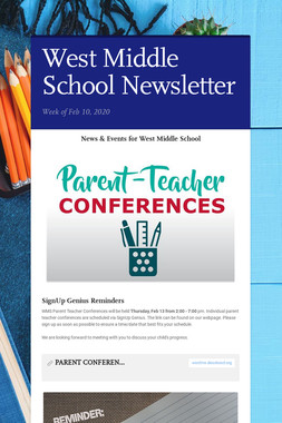 West Middle School Newsletter