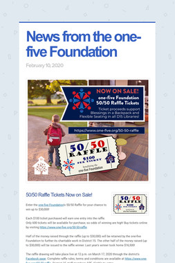 News from the one-five Foundation