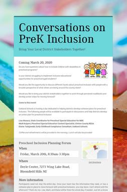 Conversations on PreK Inclusion