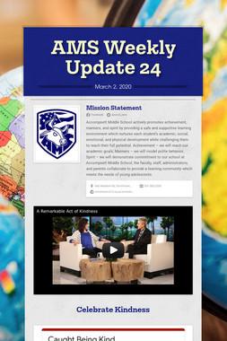 AMS Weekly Update 24