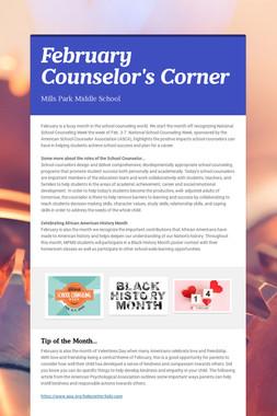 February Counselor's Corner
