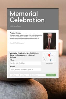 Memorial Celebration