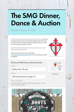 The SMG Dinner, Dance & Auction
