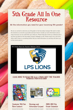 5th Grade All In One Resource