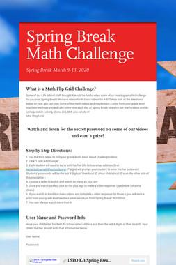 Spring Break Math Challenge