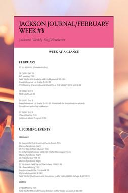 JACKSON JOURNAL/FEBRUARY WEEK #3