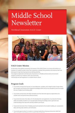 Middle School Newsletter