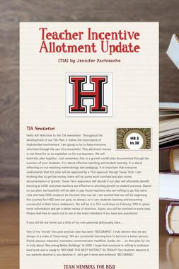 Teacher Incentive Allotment Update