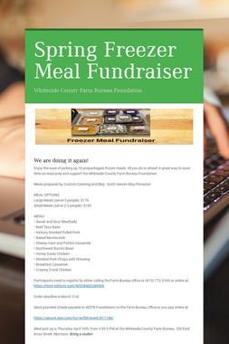 Spring Freezer Meal Fundraiser
