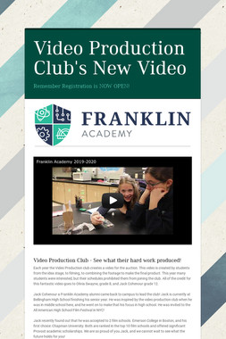Video Production Club's New Video