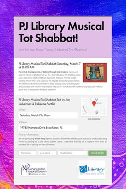 PJ Library Musical Tot Shabbat!