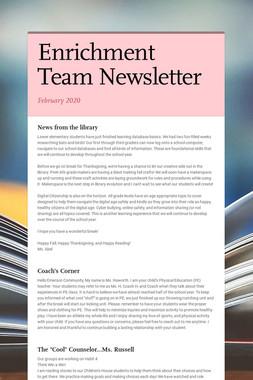 Enrichment Team Newsletter