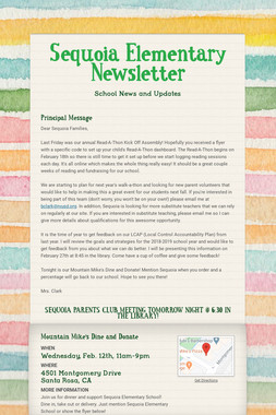 Sequoia Elementary Newsletter
