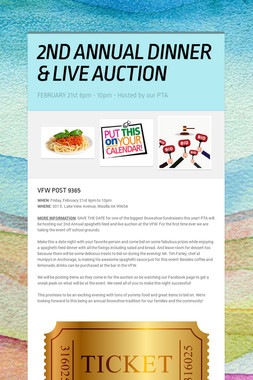 2ND ANNUAL DINNER & LIVE AUCTION