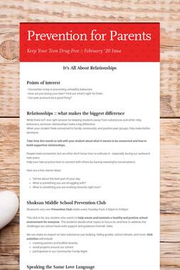 Prevention for Parents