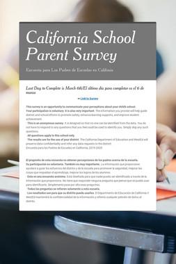 California School Parent Survey