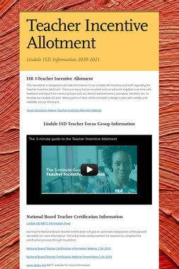 Teacher Incentive Allotment