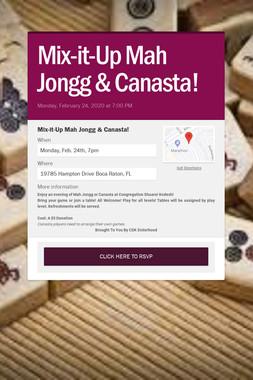 Mix-it-Up Mah Jongg & Canasta!