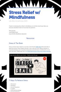 Stress Relief w/ Mindfulness