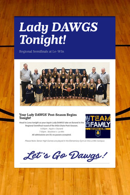 Lady DAWGS Tonight!