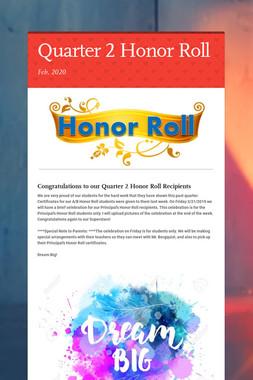 Quarter 2 Honor Roll