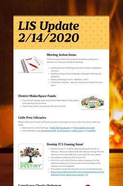 LIS Update 2/14/2020