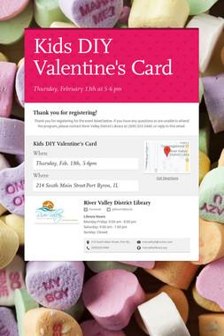 Kids DIY Valentine's Card